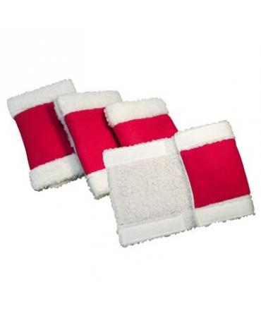 bandages noel membres cheval rouge blanc