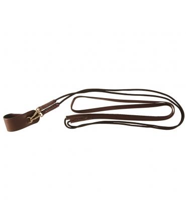 Rênes allemandes CHETAK cuir et corde