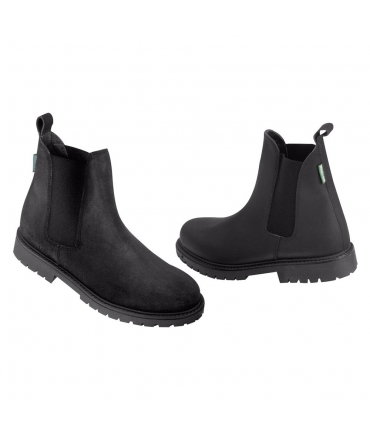 boots d'équitation norton camargue croute de cuir noir