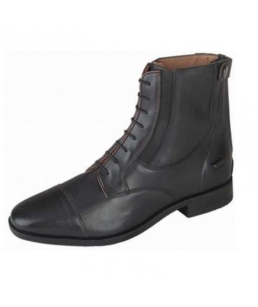 boots d'équitation t de t amati cuir noir