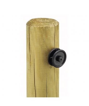 isolateur roulette beaumont plastique noir