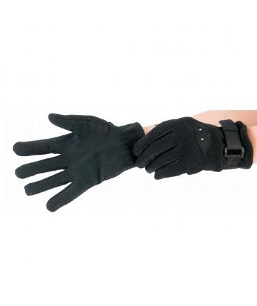 gants d'équitation t de t evasion été noir extensible