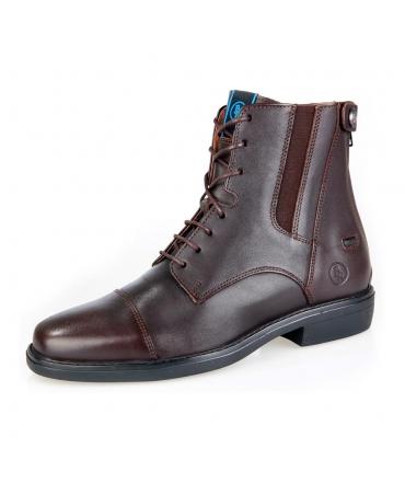 Boots d'équitation en cuir brun à lacets BR noblesse