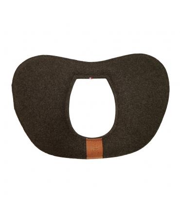 padd de garrot découpé feutre de laine doublé ronzon marron