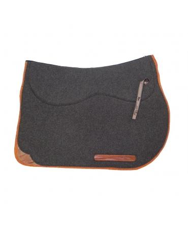 tapis d'équitation feutre de laine avec amortisseur ronzon longwoolrider