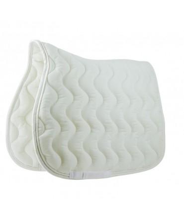 tapis de selle equitation equi-thème polyfun blanc