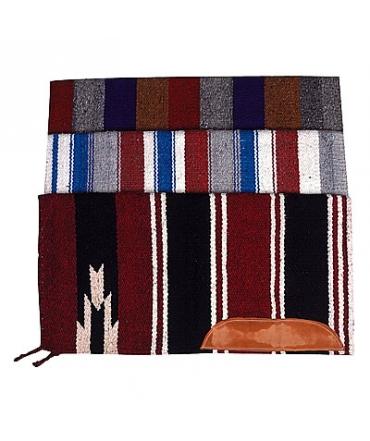 tapis de selle ekkia navajo avec cuir equitation