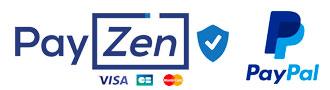 Paiement sécurisé par Payzen ou Paypal